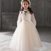 演出服 兒童禮服公主裙蓬蓬紗女童晚禮服 小女孩主持人鋼琴演出服花童秋冬