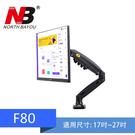 【免運中】NB F80/ 17-27吋桌上型氣壓式液晶螢幕架《適用電競螢幕》 螢幕架  螢幕支架 最大承重:9kg