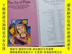 二手書博民逛書店老樂譜罕見the joy of flute 快樂長笛 【附 分譜