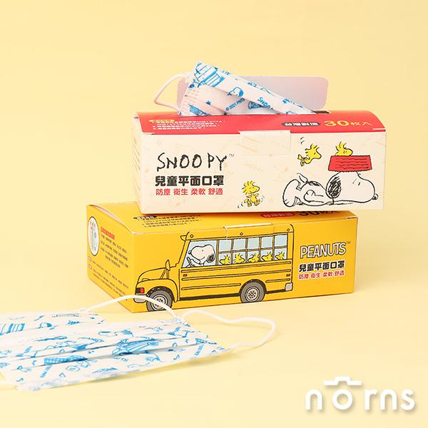 Snoopy平面盒裝口罩30入- Norns 台灣製造 史努比正版授權 成人 兒童口罩