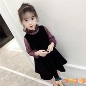 女童連身裙韓版童裝套裝兒童公主裙子兩件套秋裝【淘嘟嘟】