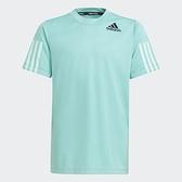 Adidas HEAT.RDY 童裝 短袖 T恤 吸濕排汗 乾爽 藍綠【運動世界】GM7061