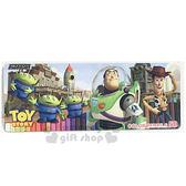 〔小禮堂〕迪士尼 玩具總動員 盒裝50色鉛筆《大.藍.多角色.房屋.火箭》 6580468-25660