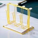 日式杯架水杯掛架創意鐵藝瀝水杯架家用置物架水杯架帶托盤杯子架 618促銷