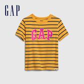 Gap男幼童 Logo透氣圓領短袖T恤 577650-明黃色