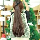 假髮(假馬尾長髮)-青春流行微捲馬尾女假髮4色73ej13【時尚巴黎】