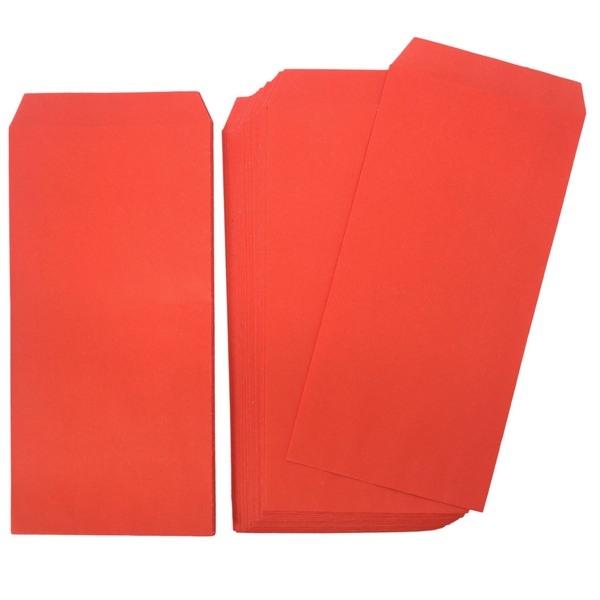 紅包袋 模造紅紙 新冠 標準型 紅禮袋/一大包10小包入(一小包50張)共500張入{定25}