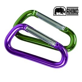 丹大戶外【RHINO】犀牛 D型環扣6CM 1626 顏色隨機 登山扣環│運動扣環