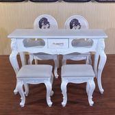 美甲桌子單人雙人三人雙層玻璃面歐式美甲店桌椅套組修甲櫃台JD 智慧e家