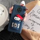 可愛SamSung S21手機套 日韓三星S21保護殼 立體史努比Galaxy S21+保護套 卡通時尚三星S21 Ultra手機殼