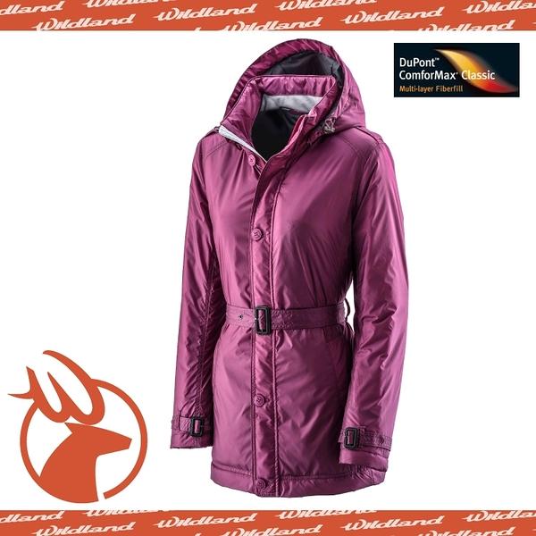 【Wildland 荒野 女款 輕量杜邦棉 防風防潑外套《紫紅》】0A-2290321/羽絨衣/連帽羽絨衣