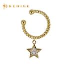 925純銀「金色星光」耳骨夾耳環 (單個)