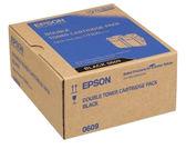 S050609 EPSON 原廠(雙包裝)黑色碳粉匣 (壽命13000張) AL-C9300N