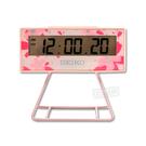SEIKO 精工 / 日期 計時碼錶 貪睡鬧鈴 可拆座架 櫻花祭 長方形鬧鐘 電子鐘 - 粉紅色 #QHL082P