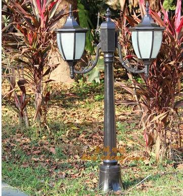 庭院燈 戶外 雙頭 路燈 花園別墅戶外庭院防水燈 草坪園林景觀燈