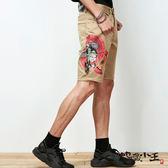 【6折限定】地藏助六款-歌舞伎休閒短褲(卡其)  - BLUE WAY 地藏小王