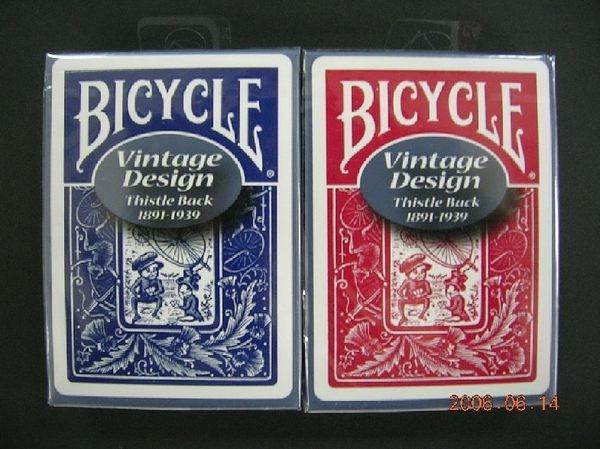 【USPCC撲克館】撲克牌BICYCLE 808 復古 THISTLE