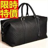 真皮行李袋-造型可肩背休閒實用男手提包2色59c11【巴黎精品】