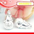 銀鏡DIY S990純銀材料配件/納氣招福祿福字葫蘆吊墜(大)~適合手作蠶絲蠟線/幸運衝浪繩(非合金)