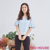 Red House 蕾赫斯-條紋蕾絲上衣(共2色)