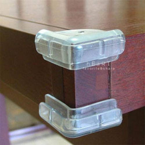 居家防護柔軟透明L型防撞角 居家安全 4入