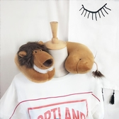 可愛卡通動物獅子頸部靠枕脖子U形飛機枕頸椎枕禮物