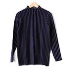 【MASTINA】直條紋高領長袖上衣-藍 秋冬嚴選