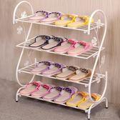 鞋架      家用多層簡約現代經濟型鐵藝宿舍拖鞋架子收納小鞋架鞋柜igo       俏女孩