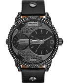 DIESEL 龐克黑勢力夜店腕錶/手錶-黑/46mm DZ7328