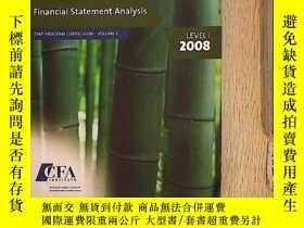 二手書博民逛書店CFA罕見Financial Statement Analysi