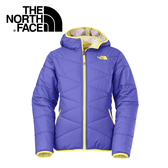 【The North Face 女童 雙面保暖外套 星空紫】CSC1/雙面連帽外套★滿額送