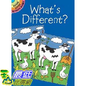 [106美國直購] 2017美國暢銷兒童書 What s Different? (Dover Little Activity Books) Paperback