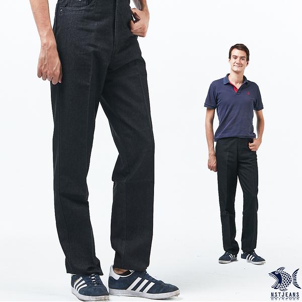 【NST Jeans】冬季復古 黑色法蘭絨 高腰休閒褲(中高腰寬版) 002(8712) 中老年/男裝/大尺碼/outlet款