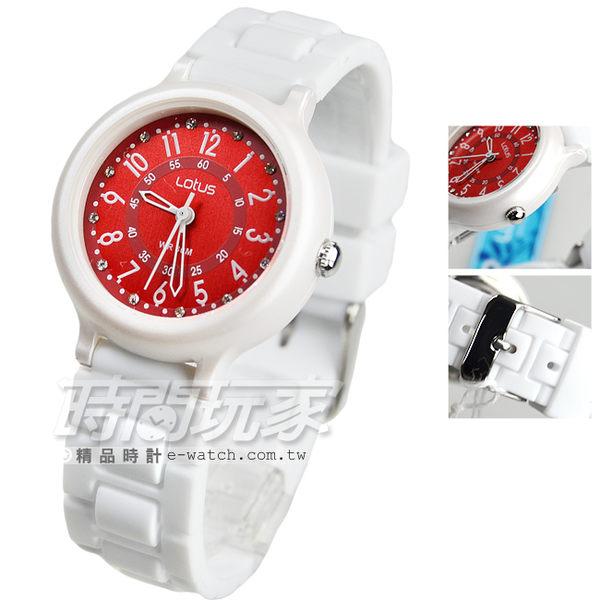 Lotus 時尚錶 日本機蕊 繽紛馬卡龍 數字時刻矽膠腕錶 數字錶 女錶 學生錶 TP2122L-04白紅