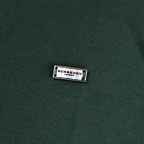 BURBERRY 紳士素面POLO衫(深綠色)082041