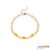 J'code真愛密碼 芬芳蝴蝶黃金/珍珠手鍊