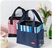 飯盒袋手提保溫防水帆布袋子大號裝帶飯的便當包便攜上班族大容量優尚良品
