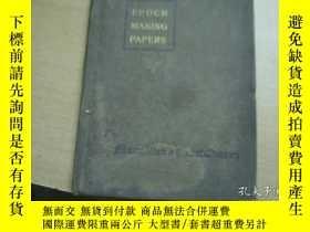 二手書博民逛書店民國1918年罕見EPOCH-MAKING PAPERS IN