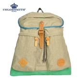 【COLORSMITH】UOC・雙直筒袋束繩後背包-卡其色・UOC1360-KA