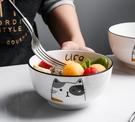 碗 大碗湯碗面碗簡約8英寸單個 北歐家用餐具可愛陶瓷碗大號飯碗湯盆【快速出貨八折搶購】