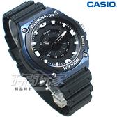 CASIO卡西歐 MWC-100H-2A 簡潔大方指針男錶 橡膠錶帶 防水手錶 學生錶 藍色 MWC-100H-2AVDF