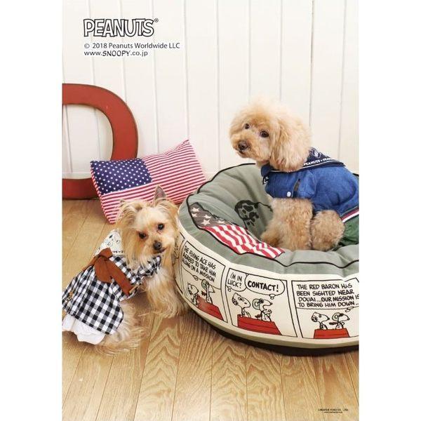 【PET PARADISE 寵物精品】SNOOPY 格紋牛仔風連身裙 (DS) 狗衣服 寵物衣服 秋季新品