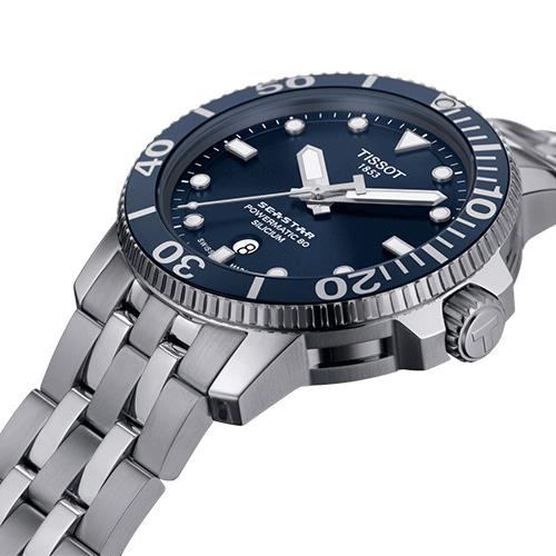 TISSOT Seastar 海星系列300米潛水機械錶(T1204071104101)