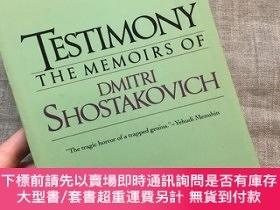 二手書博民逛書店Testimony:罕見The Memoirs of Dmitri Shostakovich 見證 著名作曲家 肖