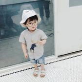 男童襯衫棉麻童裝2018夏季新款短袖韓版女童寶寶打底衫潮  XY4121 【KIKIKOKO】