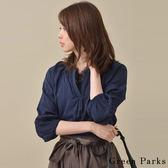 ❖ Hot item ❖ V領簍空袖縮口長袖襯衫上衣 - Green Parks
