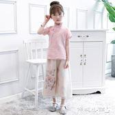 女童古裝 女童漢服中國風兒童棉麻唐裝民國風中式小孩漢服古裝演出服套裝 傾城小鋪