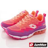 【LOTTO】編織氣墊跑鞋款-LT7AWR5297-粉橘/紫-女段-0