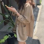 漂亮小媽咪 早秋棉麻西裝外套【C2004】韓版寬松亞麻小西服英倫風 []