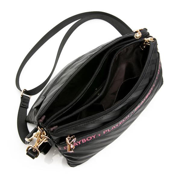 PLAYBOY- 手拿包可斜背 時尚黑潮系列 -黑色